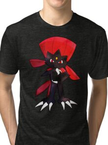 Weavile - Red Tri-blend T-Shirt