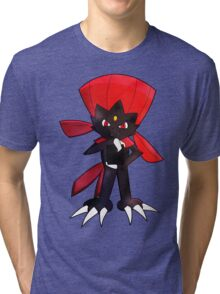Weavile - Red Tri-blend T-Shirt
