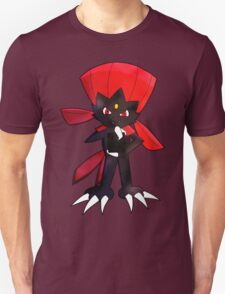 Weavile - Red T-Shirt