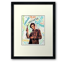 Quote Word of Tenth Doctor Framed Print