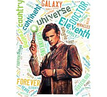 Quote Word of Tenth Doctor Photographic Print