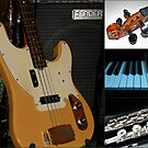 Musical Instruments Collage by kathrynsgallery