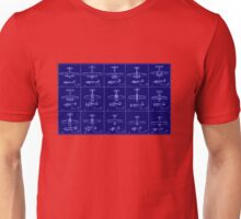 Airplanes Tested by NACA from 1938 to 1941 Unisex T-Shirt