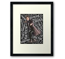 Eleventh Doctor Typographic Quote Framed Print