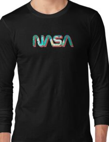 Vaporwave NASA Long Sleeve T-Shirt