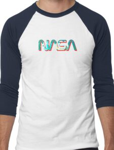 Vaporwave NASA Men's Baseball ¾ T-Shirt