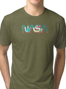 Vaporwave NASA Tri-blend T-Shirt