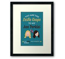 Leslie & Ann Framed Print