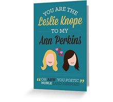 Leslie & Ann Greeting Card