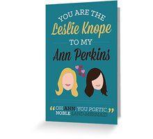 Leslie & Ann Greeting Card