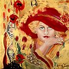 Woman in Red: Homage to Gustave Klimt, by Alma Lee by Alma Lee