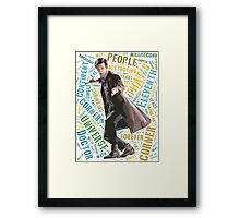 Eleventh Doctor Word Art of Quote Framed Print