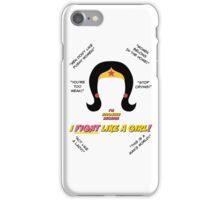 I Fight Like A Girl iPhone Case/Skin