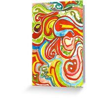Les couloirs des couleurs Greeting Card