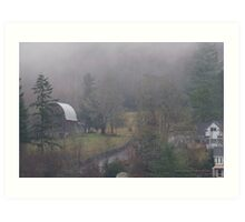 Pacific Northwest winter day Art Print