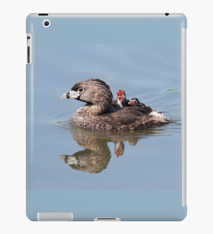 """""""Mom!...Timmy won't move over!"""" Pied-billed grebes iPad Case/Skin"""