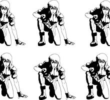 Ghost in the Shell, Major crouching (6 stickers) by hamfondler