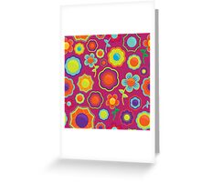 Abstract Floral Pattern  Greeting Card
