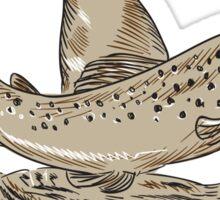 Deer Trout Quail Drawing Sticker