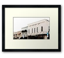 Building A Small Town Framed Print