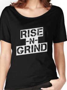 Rise n Grind - White Women's Relaxed Fit T-Shirt