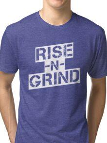 Rise n Grind - White Tri-blend T-Shirt