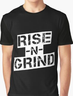 Rise n Grind - White Graphic T-Shirt