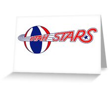 DEFUNCT - UTAH STARS Greeting Card