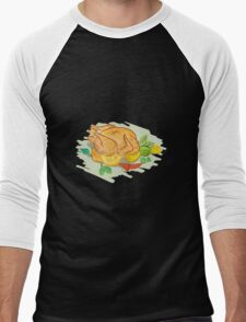 Roast Chicken Vegetables Drawing T-Shirt