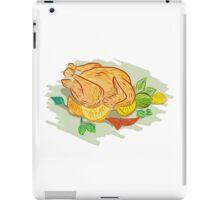 Roast Chicken Vegetables Drawing iPad Case/Skin