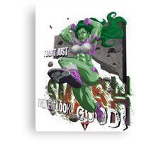 Shulkster w/Letters Canvas Print