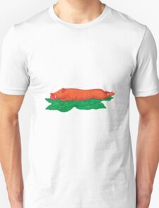 Roast Pig Lechon Banana Leaves Drawing T-Shirt