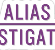 Alias Investigations Sticker