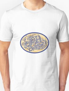 St George Fighting Dragon Drawing T-Shirt