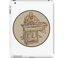 Tailor Upholsterer Sewing Machine Drawing iPad Case/Skin