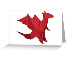 ORIGAMI DRAGON Greeting Card