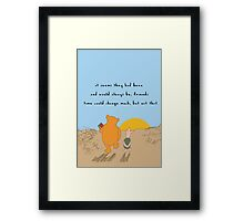 Winnie the Pooh - Forever Friends Framed Print
