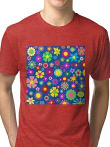 Colorful floral pattern Tri-blend T-Shirt