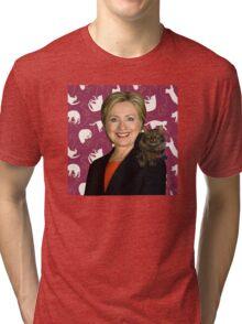 Hillary Clinton Loves Cats Tri-blend T-Shirt
