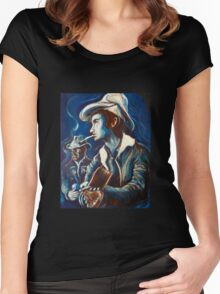 Townes Van Zandt Blues Women's Fitted Scoop T-Shirt