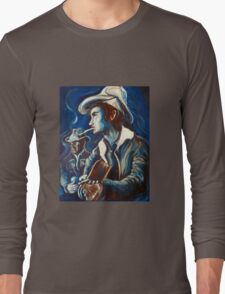 Townes Van Zandt Blues Long Sleeve T-Shirt
