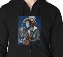 Townes Van Zandt Blues Zipped Hoodie