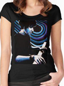 Elliott Smith - Figure 8 Blues  Women's Fitted Scoop T-Shirt