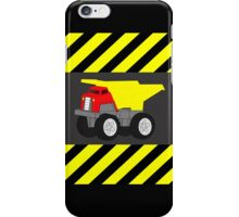 Red and Yellow Dump Truck Caution Tape iPhone Case/Skin
