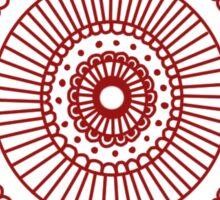 Mandala II: Red Sticker