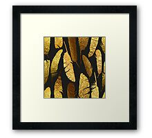 - Golden feathers - Framed Print