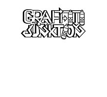 Graffiti Junktion (Solid Black) Photographic Print