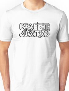 Graffiti Junktion (Solid Black) Unisex T-Shirt