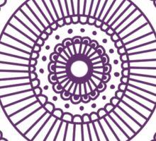 Mandala II: Purple  Sticker
