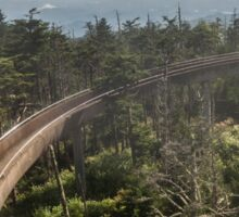 Ramp at Clingmans Dome in the Great Smoky Mountains Sticker
